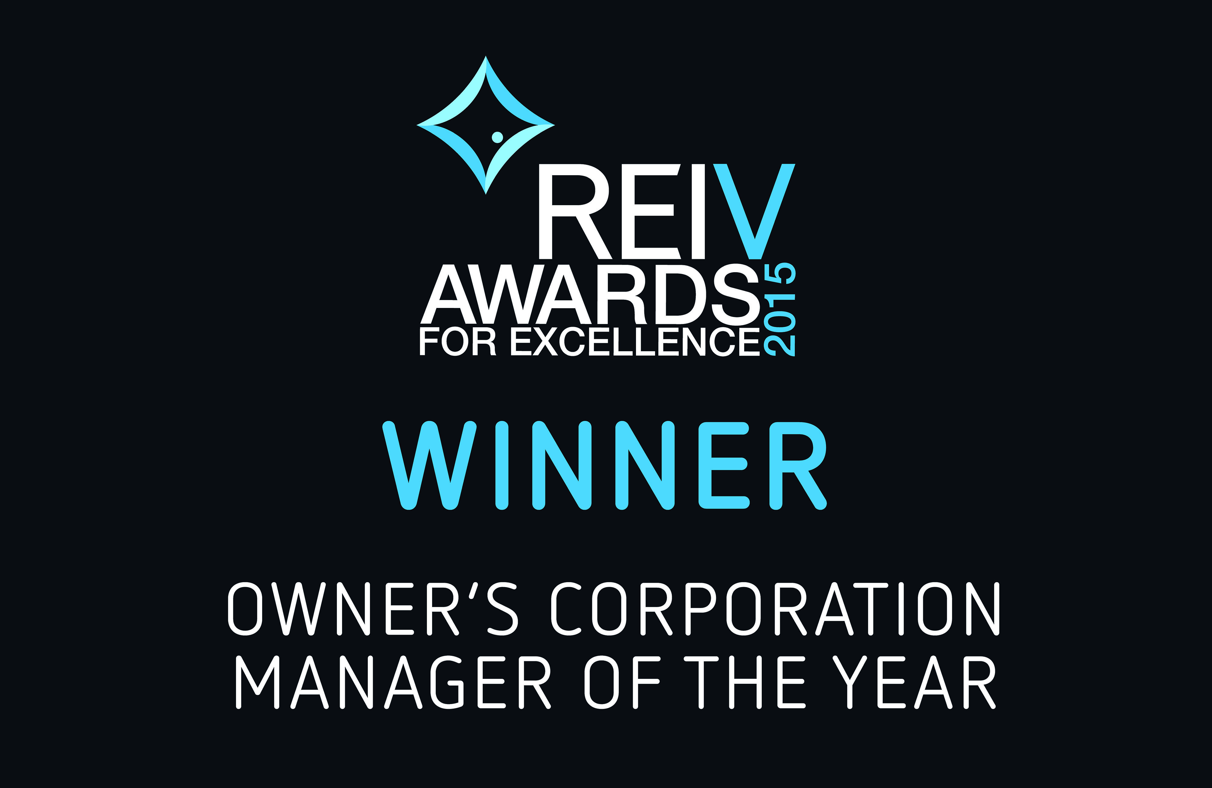 2015 - REIV Owners Corporation Manager of the Year - Ronald Perera